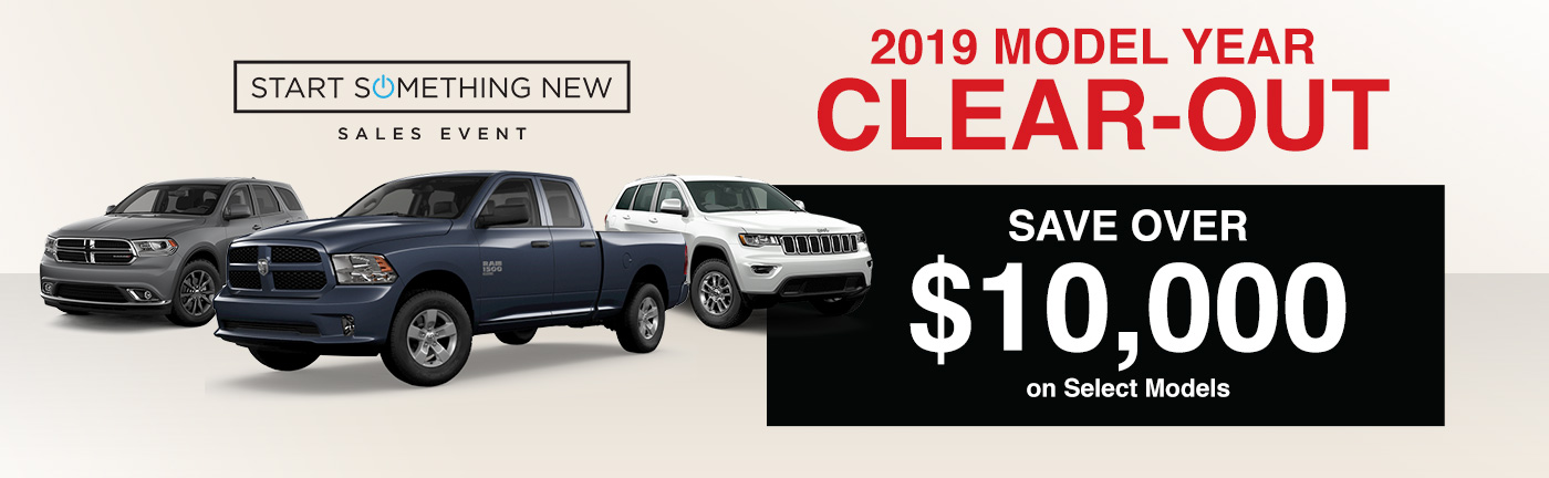 2019 Model Year Clear-Out header