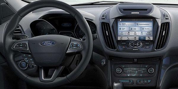 2018 Ford Escape Titanium in Charcoal Black - Interior