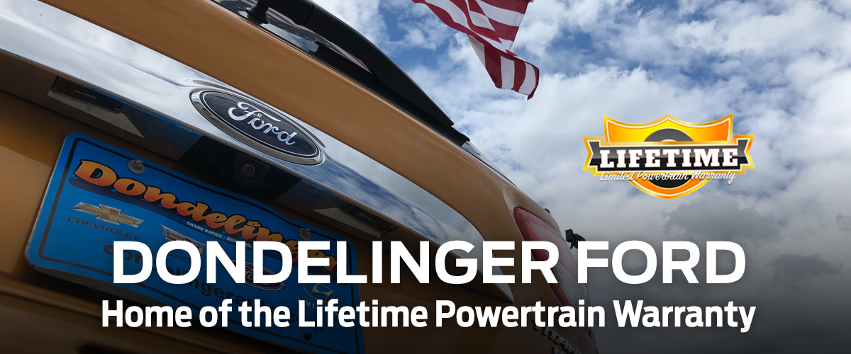 Dondelinger Ford: Home of the Lifetime Powertrain Warranty header
