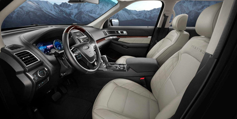 2018 Ford Explorer interior platinum edition