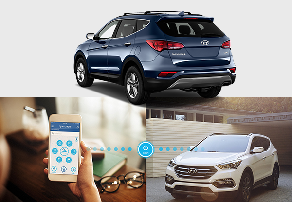 2018 Hyundai Santa Fe smart phone connect options