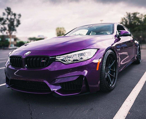2018 BMW M4 in Purple Silk